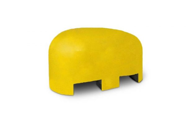Jumboblok geel met lepelgaten
