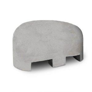 Jumboblok grijs met lepelgaten